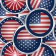 Seamless background with american flag web buttons — Stock Photo #34499147