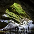 Entrance of Scarisoara cave, Apuseni Mountains, Romania — Stock Photo