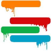 Set of splash color paint banners — Stock Photo