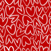 Red seamless with doodle hearts — Stock Photo
