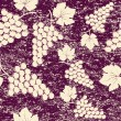 Grunge vintage background with bunch of grapes — Stock Photo