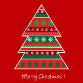 Christmas card with Christmas tree — Stock Photo