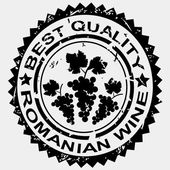 Grunge stamp, quality label for Romanian wine — Stock Photo