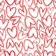 Seamless pattern with doodle hearts — Stock Photo #39337107