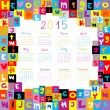 Stock Photo: 2015 Calendar with letters for schools