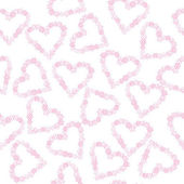 Background with hearts made of flowers — Stock Photo
