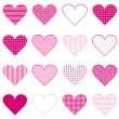 Stock Photo: Set of hearts