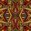 Kaleidoscope made of ethnic patchwork fabric — Stock Photo