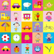 Background for kids with toys — Stock Photo