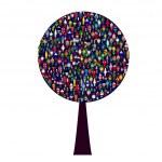 World people tree — Stock Photo