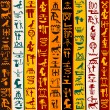 Colorful background with Egyptian hieroglyphs — Stock Photo #42919979