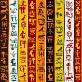 Colorful background with Egyptian hieroglyphs — Stock Photo