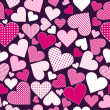 Seamless pattern with pink hearts — Stock Photo #42920707