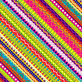 Doodle ethnic and colored seamless background — Stock Photo