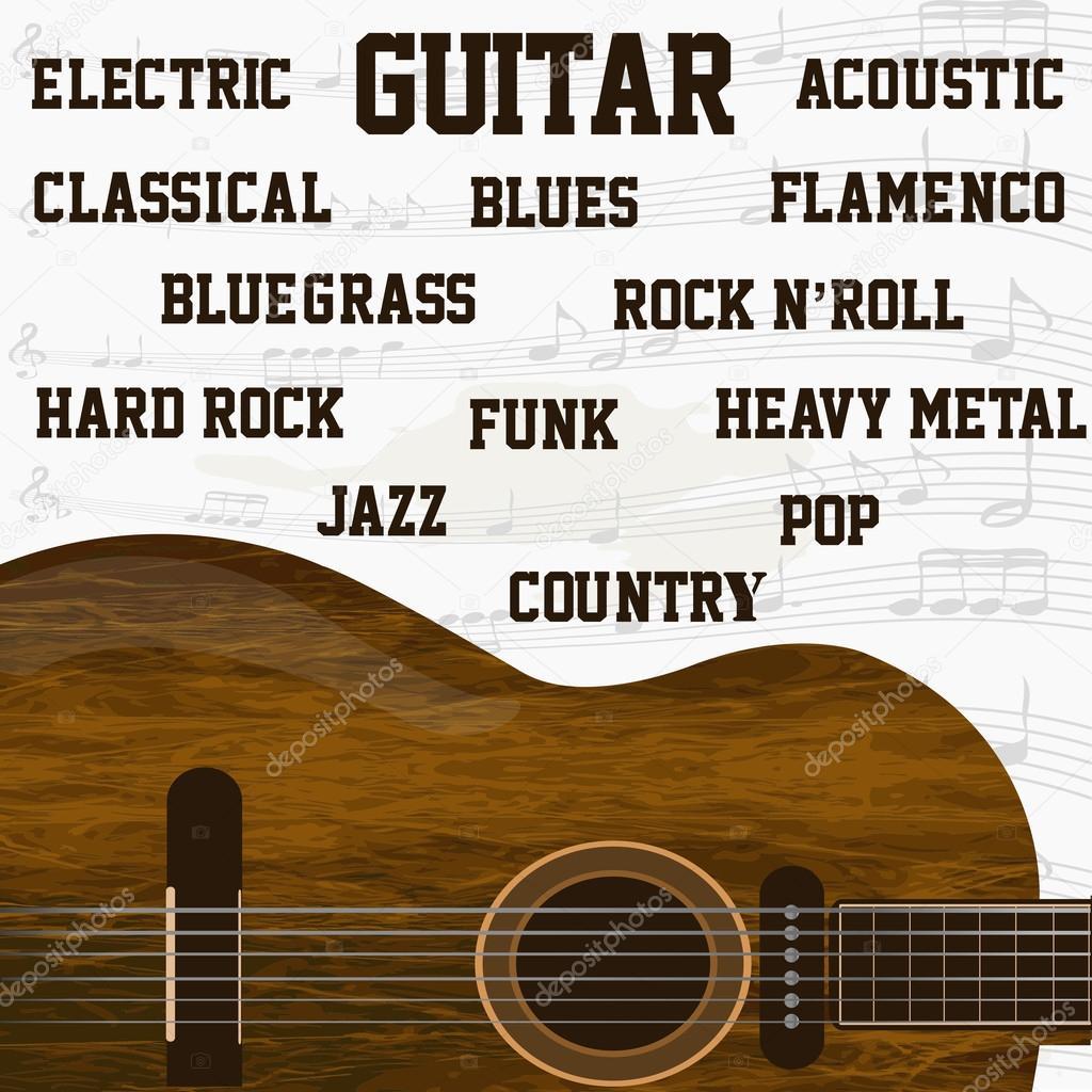 Diversi tipi di musica di sottofondo di chitarra foto - Diversi tipi di musica ...