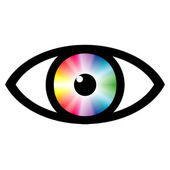 Color swatch eye — 图库照片