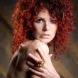 Beautiful red-haired girl - Stock Photo
