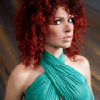 Beautiful red-haired girl - Foto Stock
