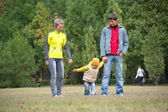 Family in park — Foto Stock