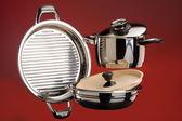 Steel Cookware — Stock Photo