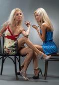 Sexual blond girls — Photo