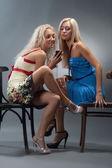 Sexual blond girls — Stock Photo