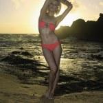Beautiful blond in bikini — Stock Photo