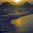 Sunrise in lanikai — Stock Photo