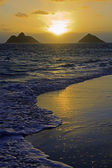 Sunrise in lanikai — Stockfoto