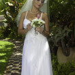 Bride on her wedding day — Stockfoto