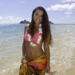 Polynesian beauty at the beach — Stock Photo #49406507
