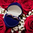 Wedding rings in a box — Stock Photo #12404082