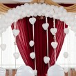Wedding ornament from balloons — Stock Photo #12404401