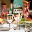 Table wine glasses for wine — Stock Photo