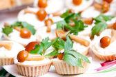 Snack from marinaded mushrooms — Stock Photo