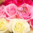 A beautiful bridal bouquet at a wedding party - Stockfoto