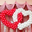 Wedding ornament from balloons — Stock Photo #13621012