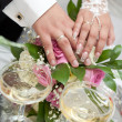 Champagne on wedding - Stockfoto