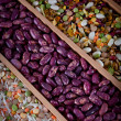 Stock Photo: Set of beans, rice, lentils, spices for cooking in the kitchen