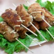 Grilled meat on a stick — Stock Photo