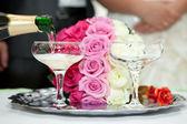 結婚式のシャンパン — ストック写真
