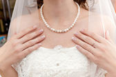 Necklace a breast — Foto Stock