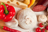 A set of food products for cooking pizza. — Stock Photo