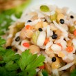 Steamed rice and lentils with vegetables — Stock Photo #19510871