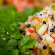 Steamed rice and lentils with vegetables — Stock Photo #19510943