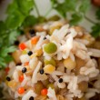 Steamed rice and lentils with vegetables — Stock Photo #19511063