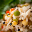 Steamed rice and lentils with vegetables — Stock Photo #19511101