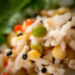 Steamed rice and lentils with vegetables — Stock Photo