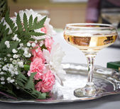 Champagne auf hochzeit — Stockfoto