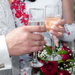 Hands of the groom and the bride — Stock Photo #27850715